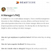 A Manager's FAQ