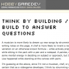 HobbyGameDev - Think by Building / Build to Answer Questions