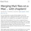 Merging M4V files (with chapters) on a Mac
