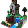 Lego Waterfall house