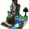 Lego Waterfall house